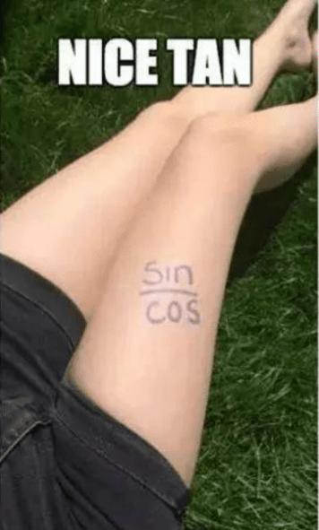 tan = sin/cos