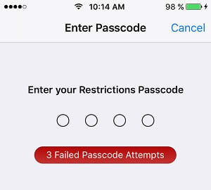 iOS Restrictions Passcode Cracker
