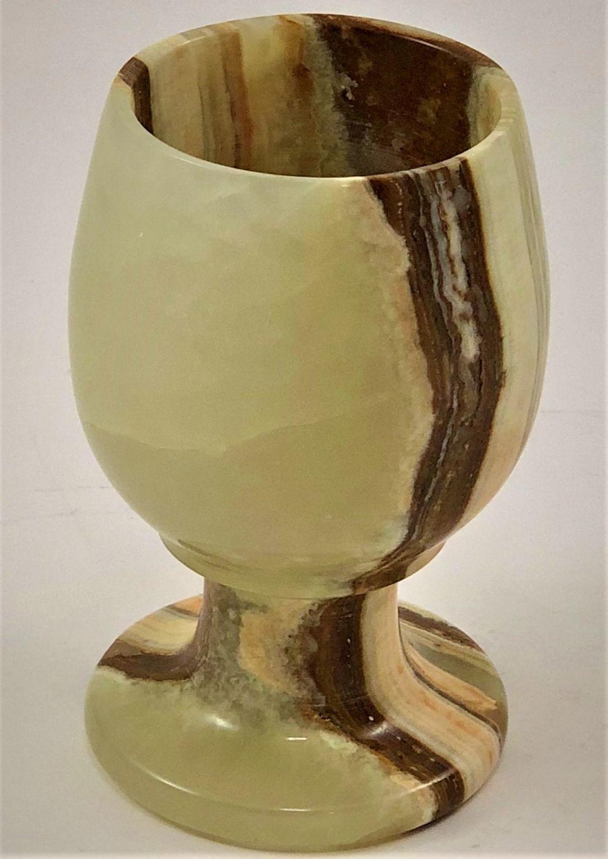 Natural Onyx Stone Wine Glass