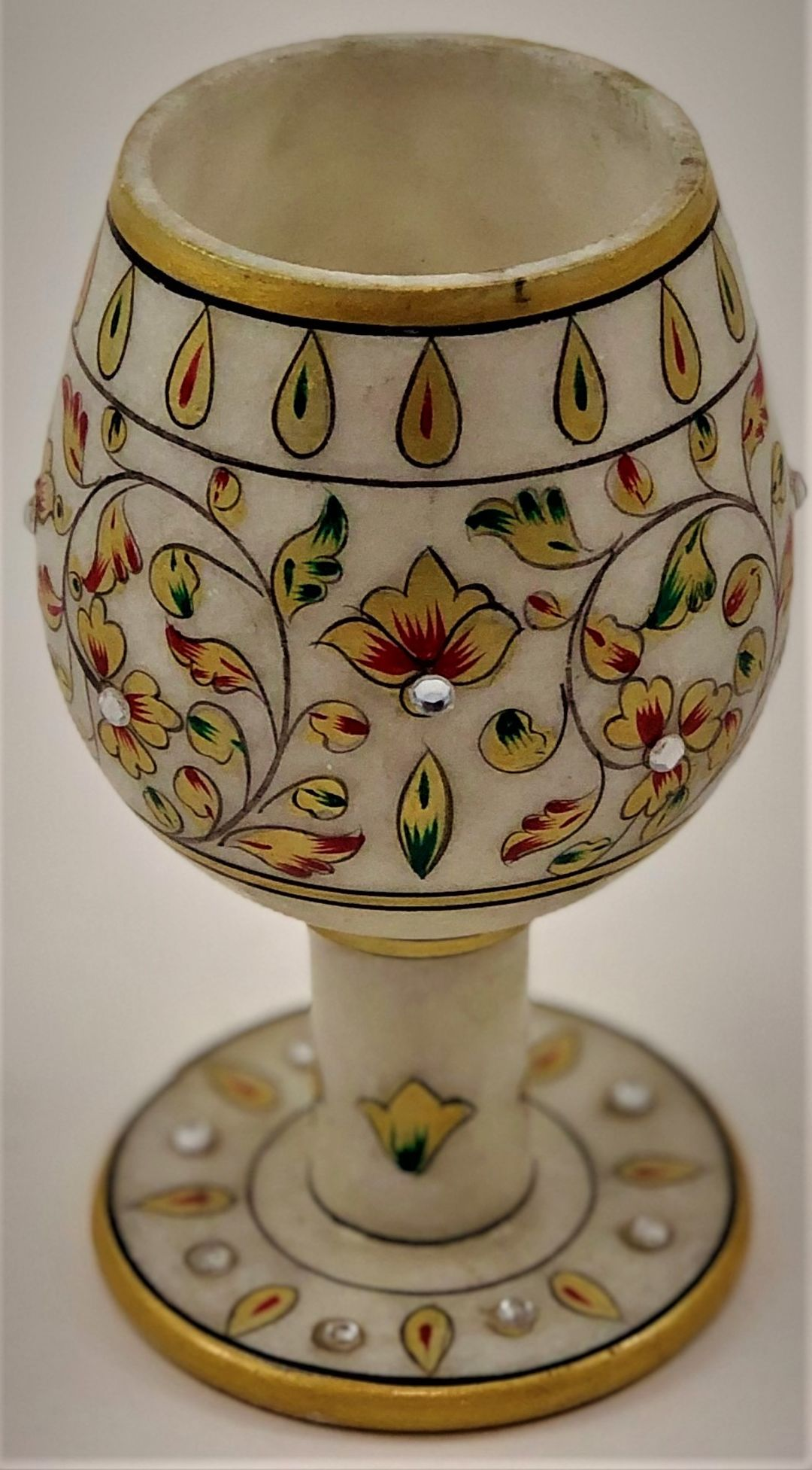 Hand Decorated Marble stone glass