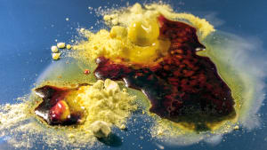 Melting sulfur