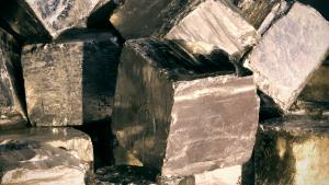 Malachite and pyrite