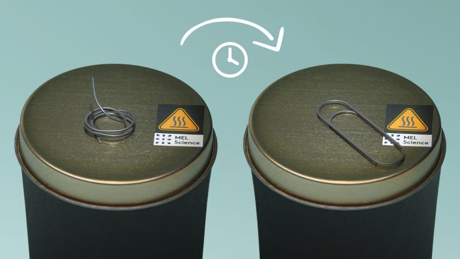 Nitinol paper clip