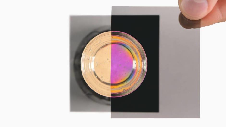 Corn syrup kaleidoscope