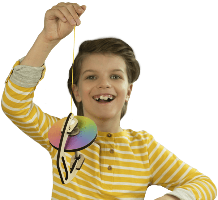 Boy with gyroscope