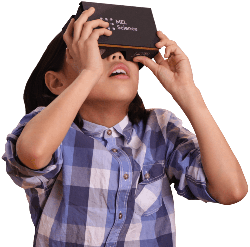 image of a girl with VR headset
