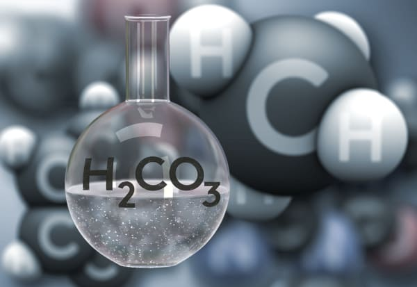 Make Carbonic acid molecule