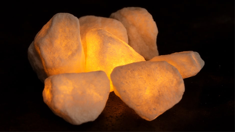 Glowing marble