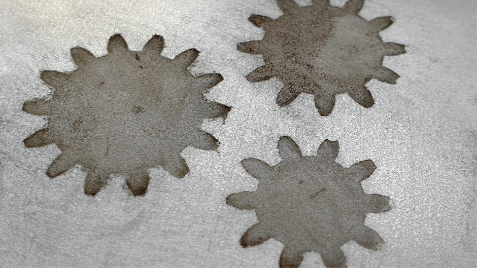 Iron etching