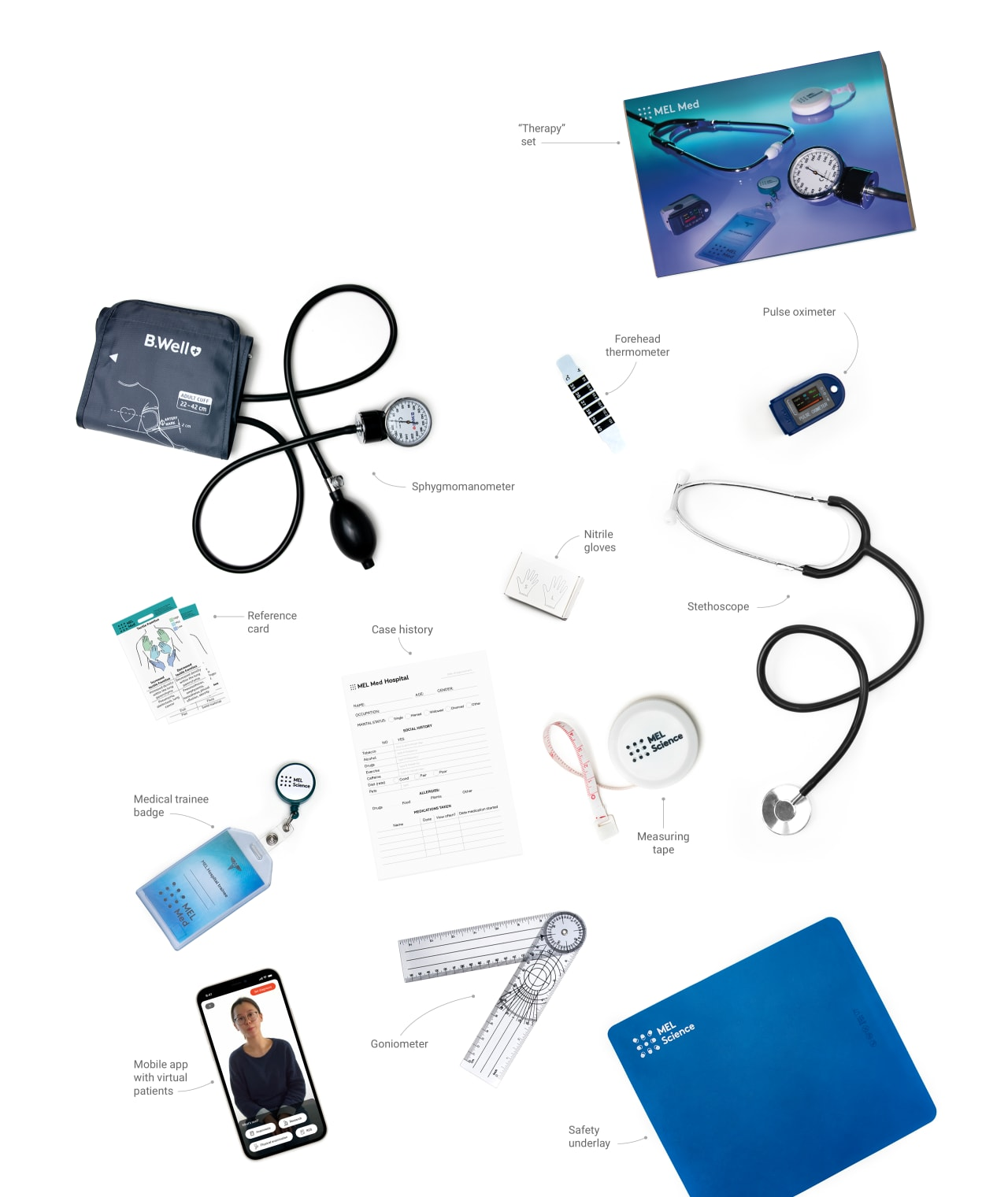 Therapy set equipment