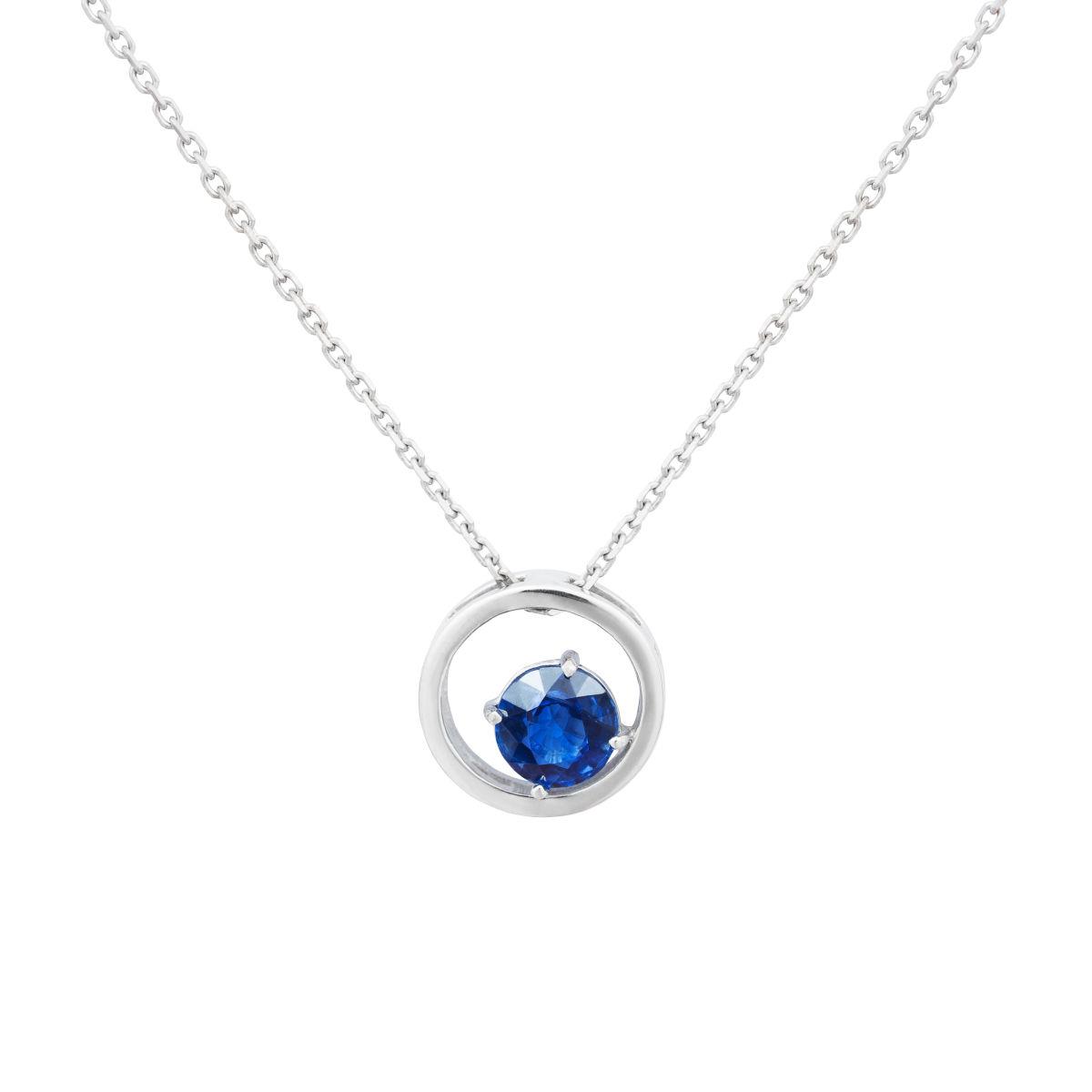 Zlatý náhrdelník skyanitem 5mm