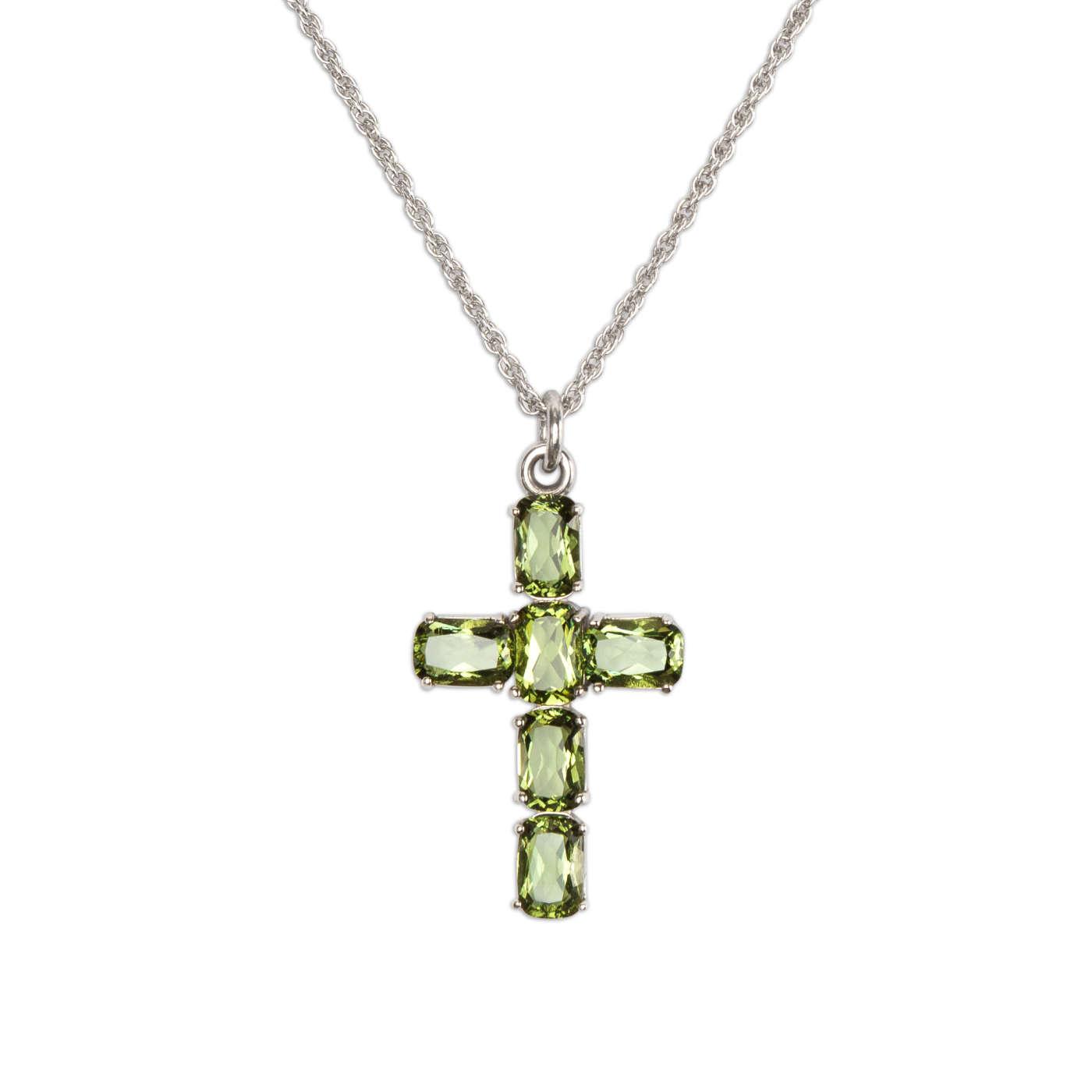 Stříbrný náhrdelník křížek svltavíny