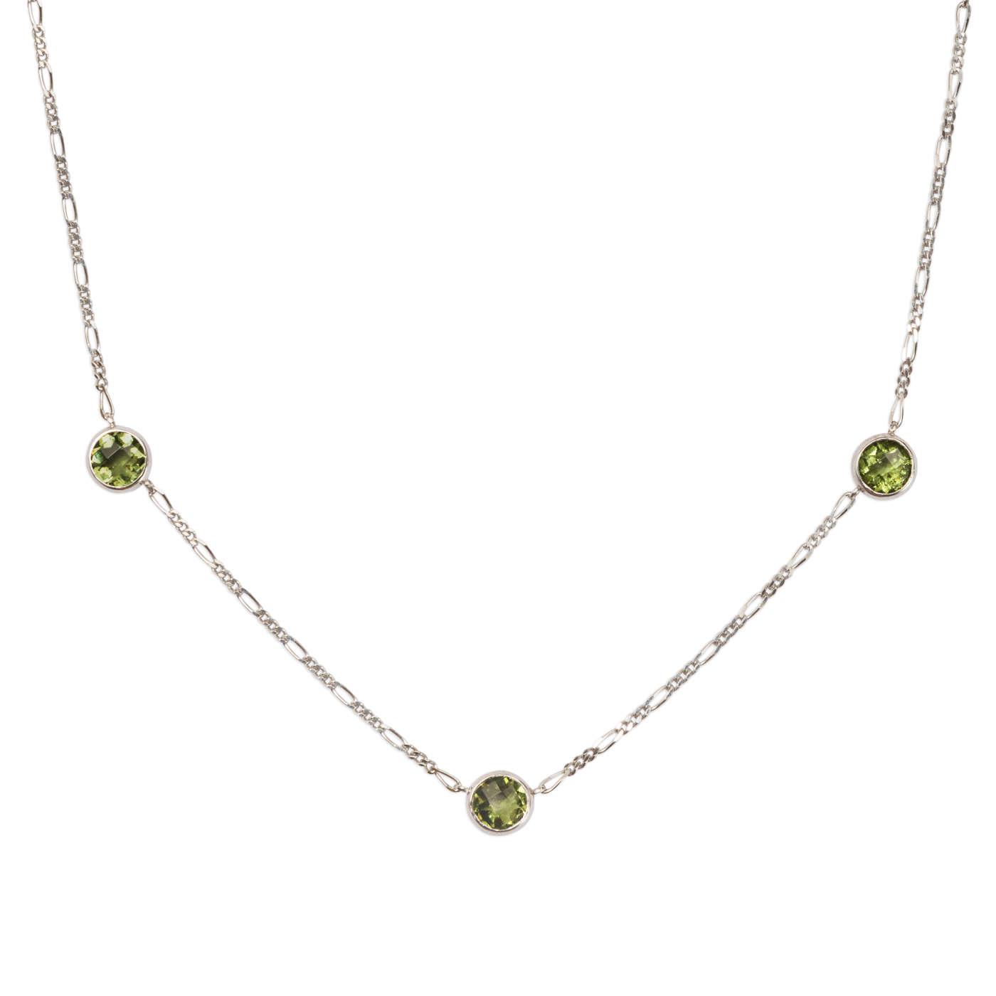 Stříbrný náhrdelník svltavíny