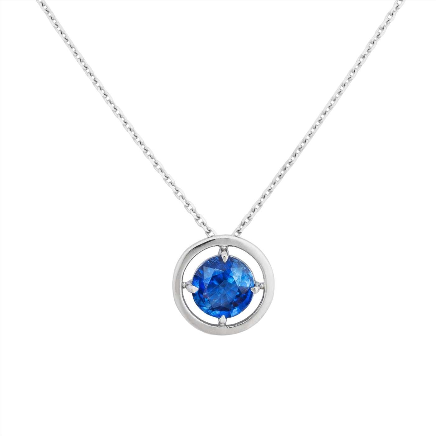 Zlatý náhrdelník skyanitem 6mm
