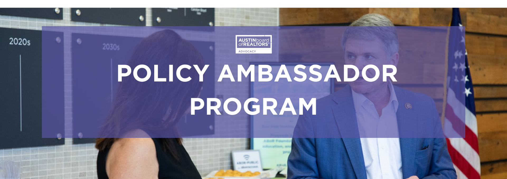 Policy Ambassadors Header Options