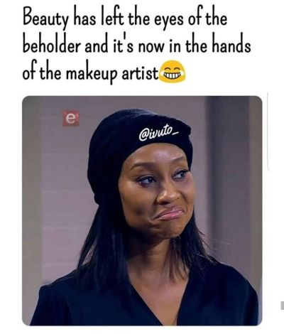 Beauty is in the hands of the makeup artist