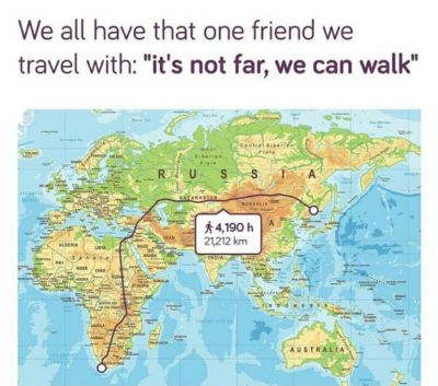 It's not far we can walk