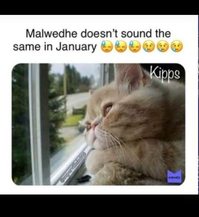 In January, malwedhe doesn't sound the same it's njaanuary