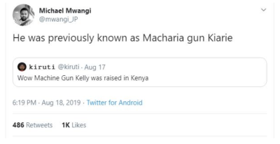 macharia gun kiarie - machine gun kelly