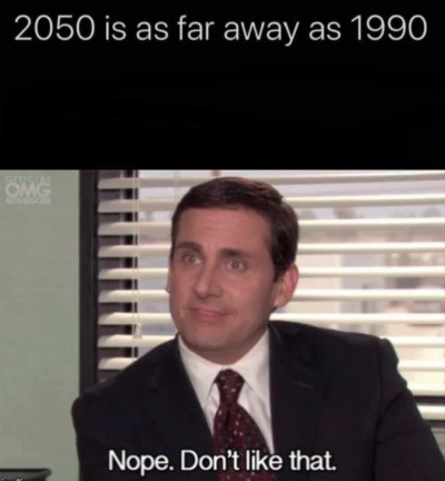 2050 is as far away as 1990