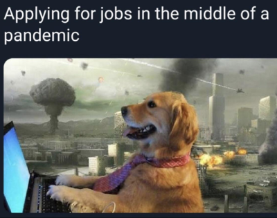 Applying for jobs in the middle of a pandemic