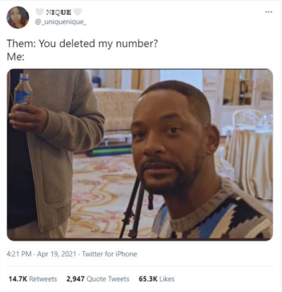 You deleted my number