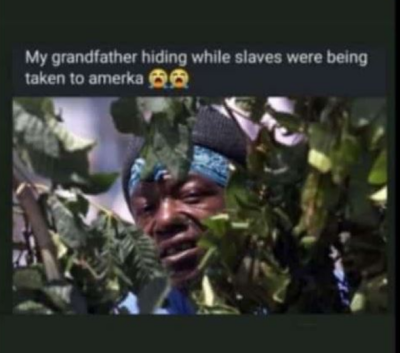 my grandfather hiding while slaves were being taken to america