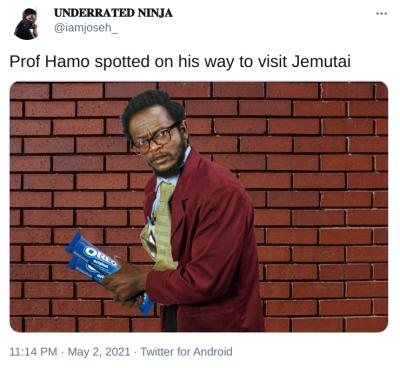 prof hamo on his way to visit jemutai