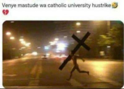 Venye mastude wa Catholic University hustrike