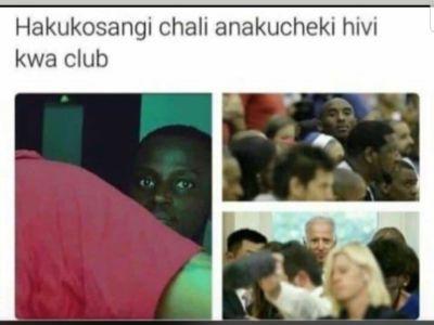 Hakukosangi chali anakucheki hivi kwa club