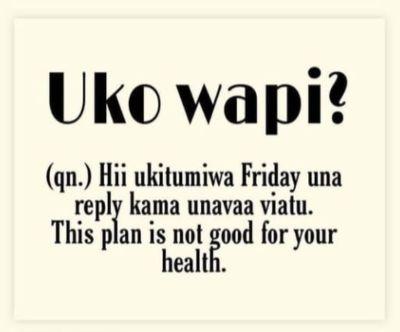Kenyan dictionary uko wapi