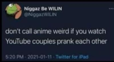 Don't call anime weird if you keep watching YouTube couple's prank each other