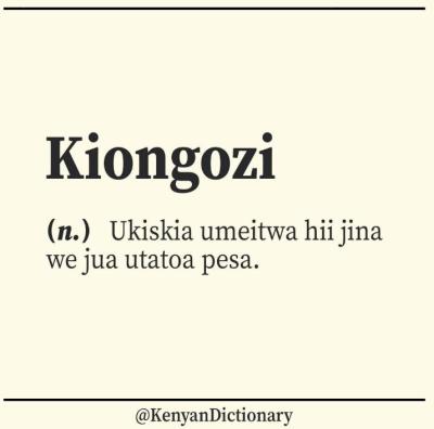 kenyan dictionary kiongozi