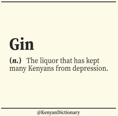 kenyan dictionary gin