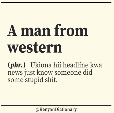 kenyan dictionary a man from western