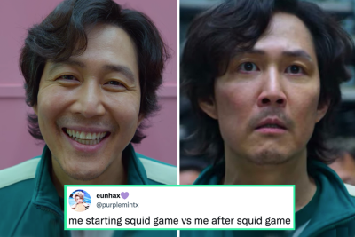 Me starting squid game vs me after squid game