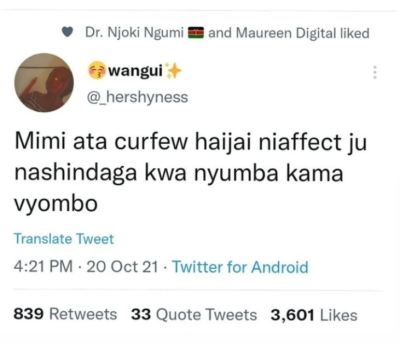 nashindanga kwa nyumba kama vyombo