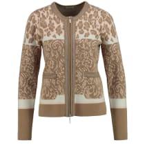 Gerry Weber Brown Animal Print Knit Jacket