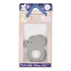 Elephant - Natural Rubber Baby Teether