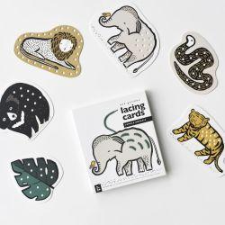 Jungle Animals Lacing Cards