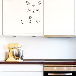 Anni The Bunny Door Decal - Medium