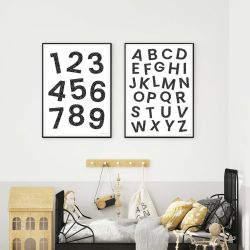 Numbers Kids Print - Monochrome