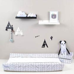 Scalloped Wall Shelf - Black