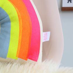 Screen Printed Rainbow Cushion