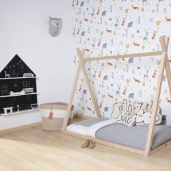Tipi Cot Bed Natural Wood - 70x140