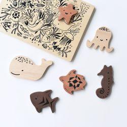 Wooden Tray Puzzle - Ocean Animals