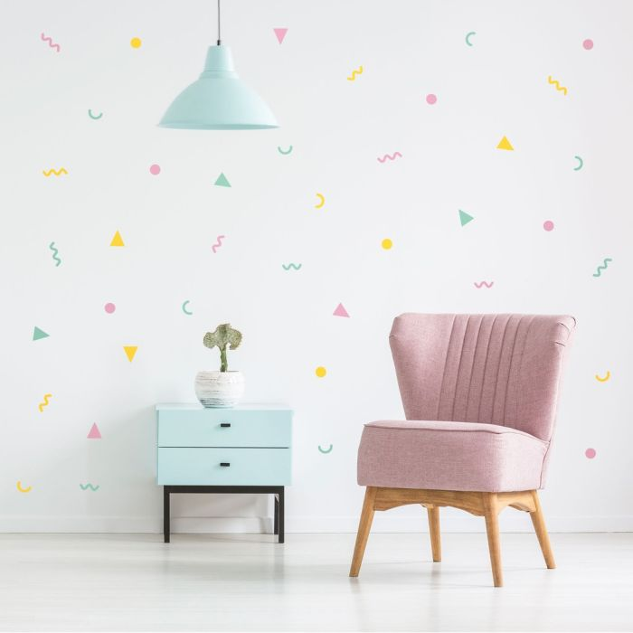 80's Party Wall Pattern A3 Decals