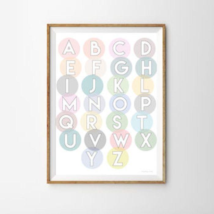 Alphabet Circles Print