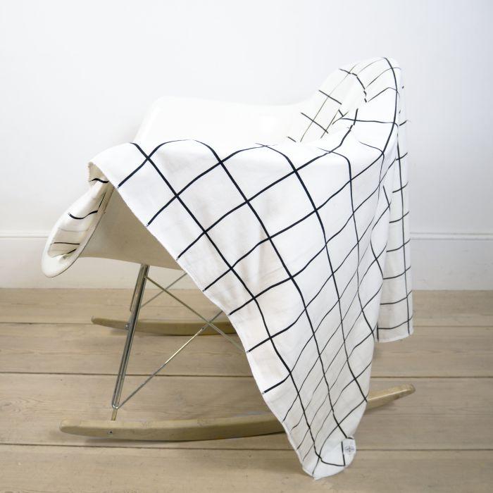 Blanket In Grid Print