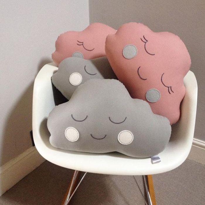Cloud Cushion - Grey Boy With White Cheeks